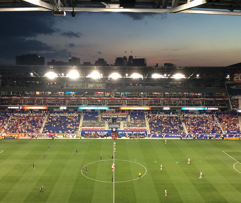 Picture is from the match of New York Red Bulls vs. New York City FC, at the Red Bull Arena, New Jersey 2015. Photo: Riitta-Ilona Hurmerinta.