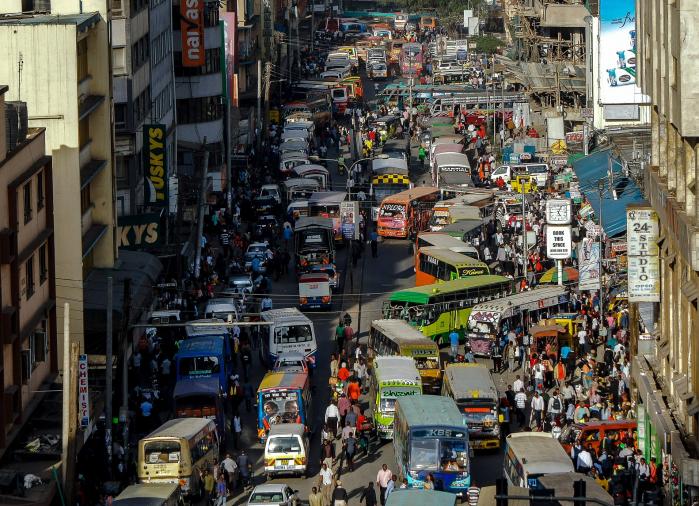 Katukuvaa Nairobista. Kuva: Kuvapankki Pixabay.