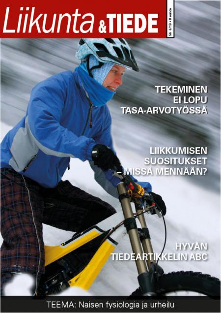 Liikunta & Tiede -lehden 6/2019 kansikuva.
