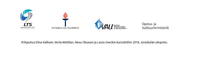 Pohjautuu Elina Kallisen, Venla Mattilan, Neea Oksasen ja Laura Sneckin kurssitöihin 2018, Jyväskylän yliopisto.