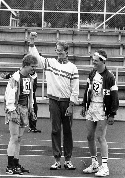 Kehitysvammaisten yleisurheilukisat 1980-luvulla. Kuva: VAU ry:n arkisto.