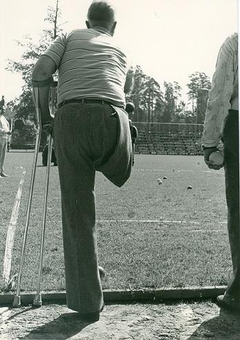 SIU:n bocciaa 1970-80-luvun vaihteessa. Kuva: VAU ry:n arkisto.