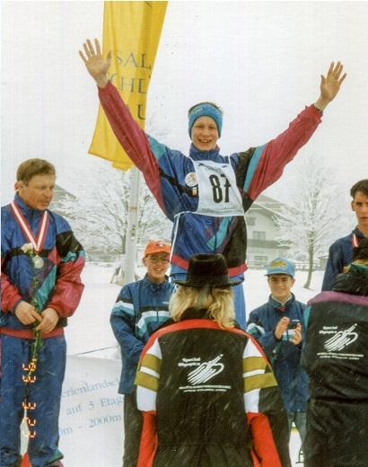 Special Olympics-kisat Itävallassa vuonna 1993. Kuva VAU ry:n arkisto.