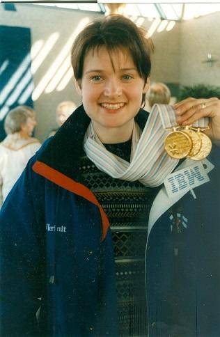 Tanja Kari Naganossa vuonna 1998. Kuva: Nina Jakonen.