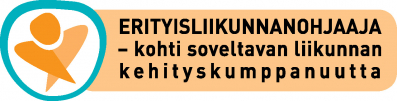 Erityisliikunnanohjaaja – Kohti soveltavan liikunnan kehityskumppanuutta -hankkeen logo.